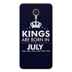 Kings are born in July design    Meizu M3 note hard plastic printed back cover