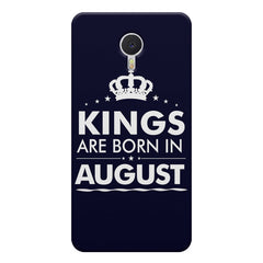Kings are born in August design    Meizu M3 note hard plastic printed back cover