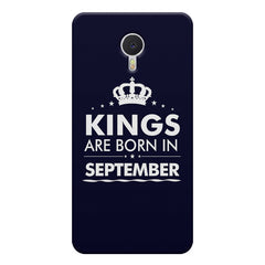 Kings are born in September design    Meizu M3 note hard plastic printed back cover