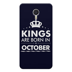 Kings are born in October design    Meizu M3 note hard plastic printed back cover