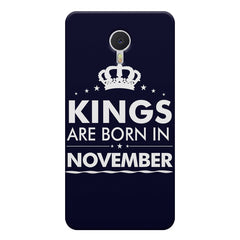 Kings are born in November design    Meizu M3 note hard plastic printed back cover