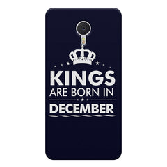 Kings are born in December design    Meizu M3 note hard plastic printed back cover