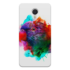 Colourful parrot design Meizu M3 note hard plastic printed back cover