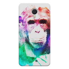 Colourful Monkey portrait Meizu M3 note hard plastic printed back cover