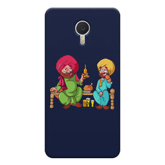 Punjabi sardars with chicken and beer avatar Meizu M3 note hard plastic printed back cover