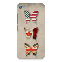 Butterfly in country flag colors Micromax Canvas Fire 4 A107 printed back cover