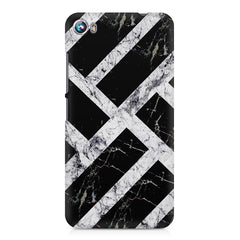 Black & white rectangular bars  Micromax Canvas Fire 4 A107 printed back cover