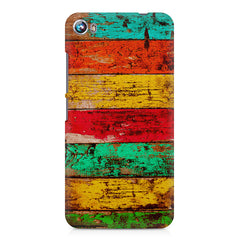 Strips of old painted woods  Micromax Canvas Fire 4 A107 printed back cover