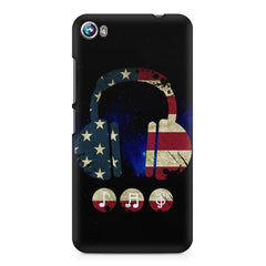 America tunes Blue sprayed  Micromax Canvas Fire 4 A107 printed back cover