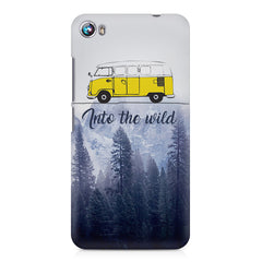 Into the wild for travel Wanderlust people Micromax Canvas Fire 4 A107 printed back cover