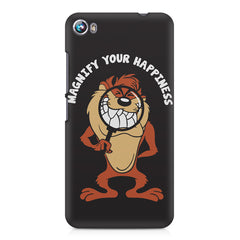 Magnify Your Happiness funny design Micromax Canvas Fire 4 A107 printed back cover