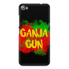 Ganja Gun being high Micromax Canvas Fire 4 A107 printed back cover