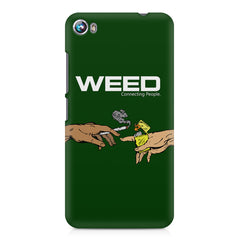 Weed connecting people  Micromax Canvas Fire 4 A107 printed back cover