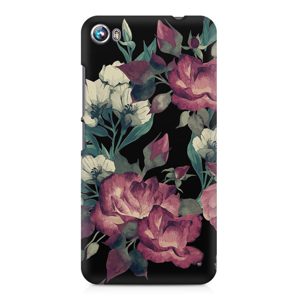 Abstract colorful flower design Micromax Canvas Fire 4 A107 printed back cover