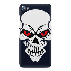 Skull with red eyes design Micromax Canvas Fire 4 A107 printed back cover