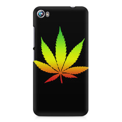 Marihuana colour contrasting design Micromax Canvas Fire 4 A107 printed back cover