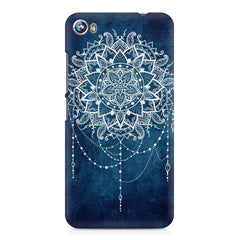 Ethnic design on blue pattern Micromax Canvas Fire 4 A107 printed back cover