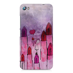 Girl with lipsticks sketch design Micromax Canvas Fire 4 A107 printed back cover