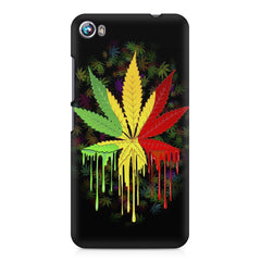 Marihuana colour contrasting pattern design Micromax Canvas Fire 4 A107 printed back cover
