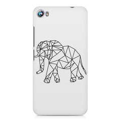 Geometrical elephant design Micromax Canvas Fire 4 A107 printed back cover