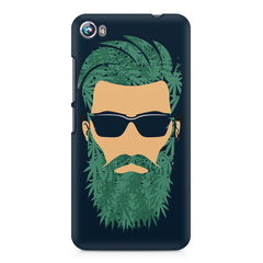 Beard guy with goggle sketch design Micromax Canvas Fire 4 A107 printed back cover