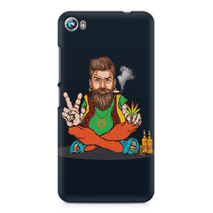 Beard guy smoking sitting design Micromax Canvas Fire 4 A107 printed back cover
