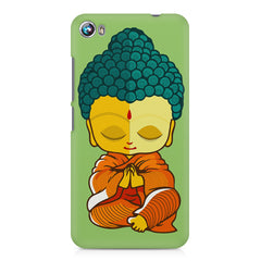 Buddha caricature design Micromax Canvas Fire 4 A107 printed back cover