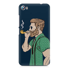 Pipe smoking beard guy design Micromax Canvas Fire 4 A107 printed back cover