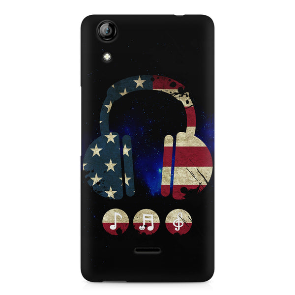 America tunes Blue sprayed  Micromax Canvas Selfie 2 Q340 printed back cover