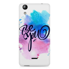 Be yourself design Micromax Canvas Selfie 2 Q340 printed back cover