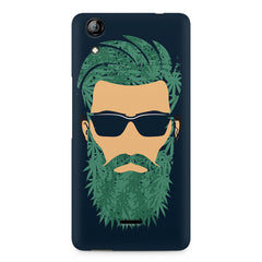 Beard guy with goggle sketch design Micromax Canvas Selfie 2 Q340 printed back cover