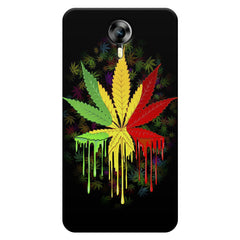 Marijuana colour dripping design    Micromax Canvas Xpress 2 hard plastic printed back cover