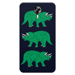 Stegosaurus cartoon design Micromax Canvas Xpress 2 hard plastic printed back cover