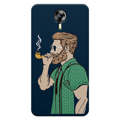 Man smoking cigar Micromax Canvas Xpress 2 hard plastic printed back cover
