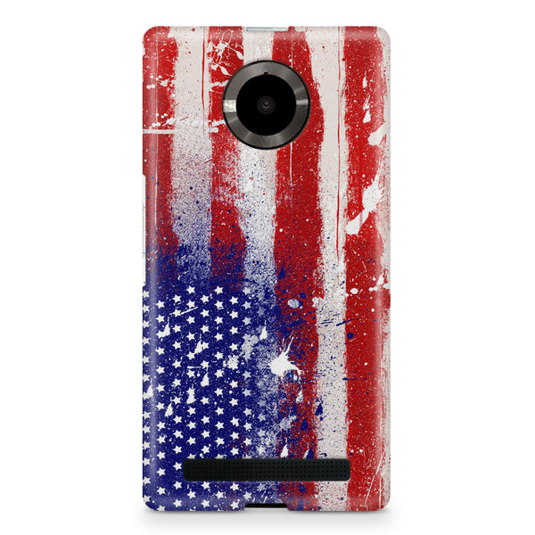 American flag design Micromax Yuphoria printed back cover