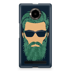 Beard guy with goggle sketch design Micromax Yuphoria printed back cover