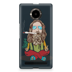 Smoking high design Micromax Yuphoria printed back cover