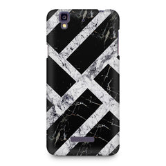 Black & white rectangular bars  Micromax Yureka printed back cover