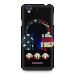 America tunes Blue sprayed  Micromax Yureka printed back cover