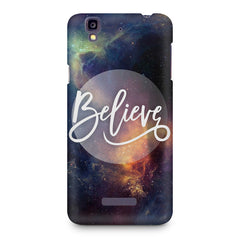 Believe in yourself Micromax Yureka printed back cover