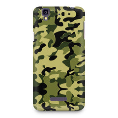 Camoflauge army color design Micromax Yureka printed back cover