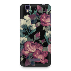 Abstract colorful flower design Micromax Yureka printed back cover