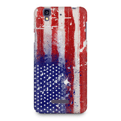 American flag design Micromax Yureka printed back cover