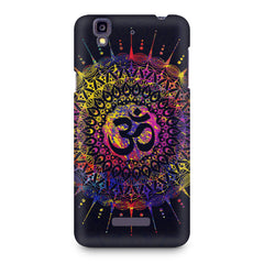Colourful Om rangoli design Micromax Yureka printed back cover