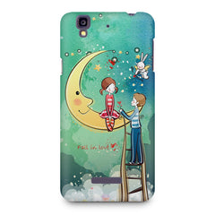 Couple on moon sketch design Micromax Yureka printed back cover