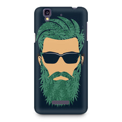 Beard guy with goggle sketch design Micromax Yureka printed back cover