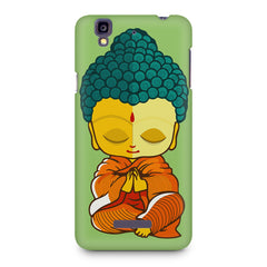 Buddha caricature design Micromax Yureka printed back cover