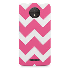 Zig Zag Pink design, Moto C Plus printed back cover