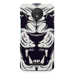 Black And White Lion design, Moto C Plus printed back cover