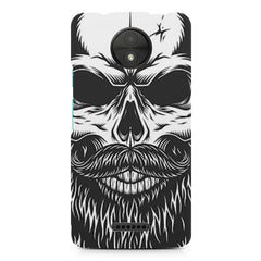 Skull with the beard  design,  Moto C  printed back cover